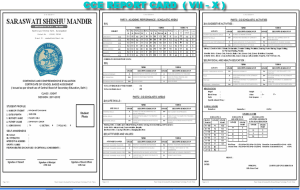 CCE-Report-card
